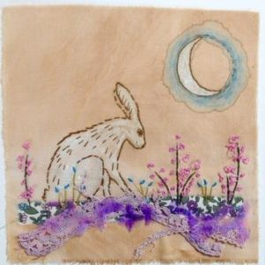 embroidered hare